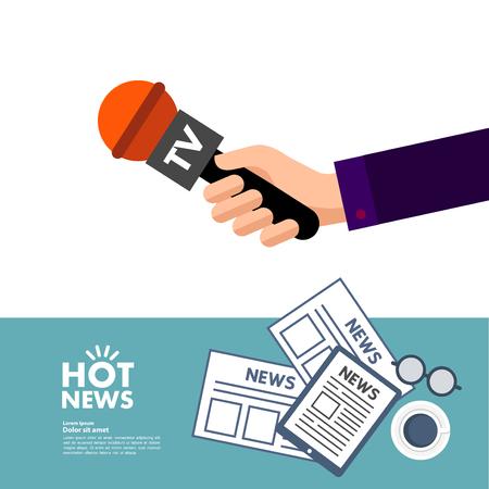 World great hot news concept vector illustration.