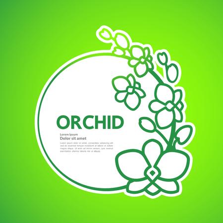 Premium grand Orchid design concept vector. Иллюстрация