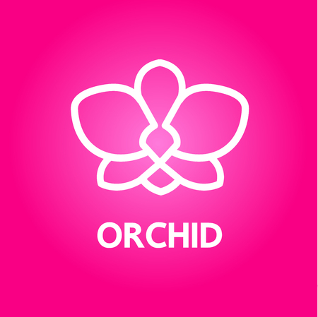 Premium grand Orchid design concept vector. 矢量图像