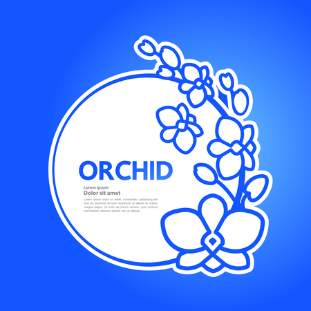 Premium grand Orchid design concept vector. Illusztráció