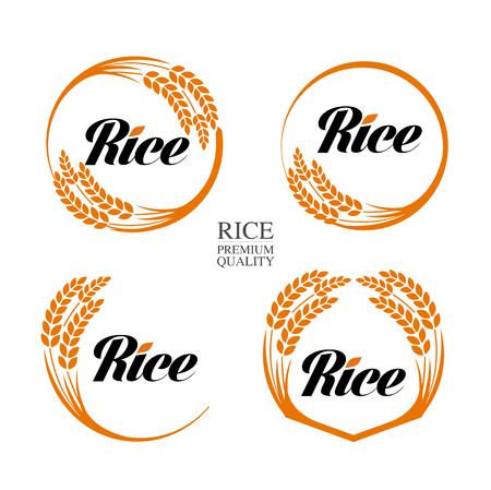 Premium Rice great quality design concept  vector. Иллюстрация