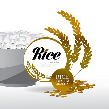 Premium Rice great quality design concept vector. Vector Illustration