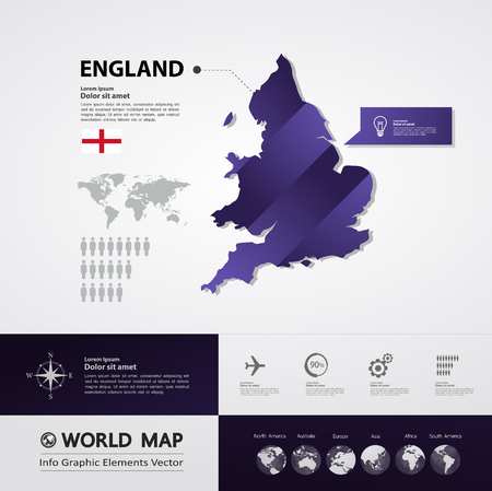 England map vector illustration. Ilustrace