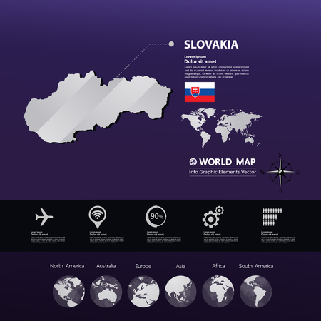 Slovakia map vector illustration.