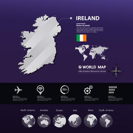 Ireland map vector illustration. Stock Illustratie