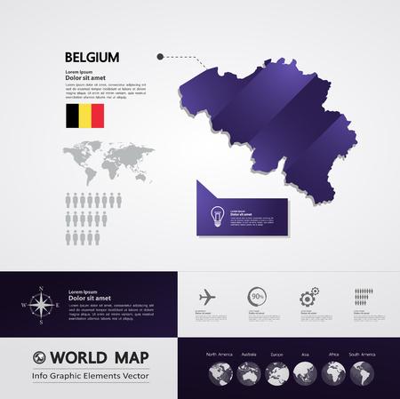 Belgium map vector illustration. Vector Illustratie