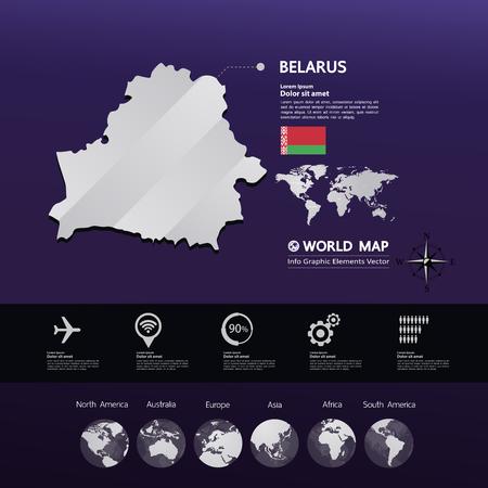 Belarus map vector illustration.  イラスト・ベクター素材