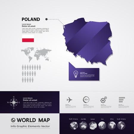 Poland map vector illustration.