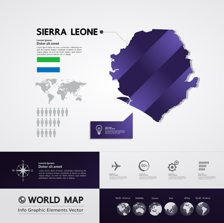 Sierra Leone map vector illustration.