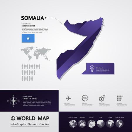 Somalia map vector illustration.