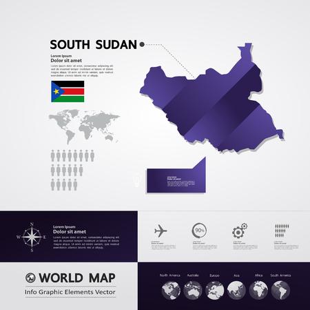 South Sudan map vector illustration. Illustration