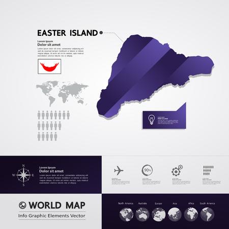 Easter Island map vector illustration. Standard-Bild - 117760320