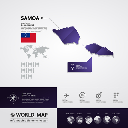 Samoa map vector illustration.