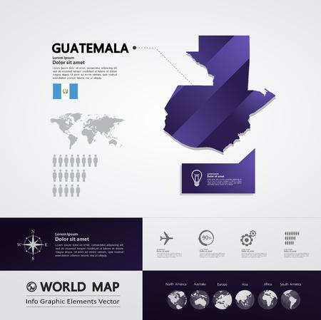 Guatemala map vector illustration.