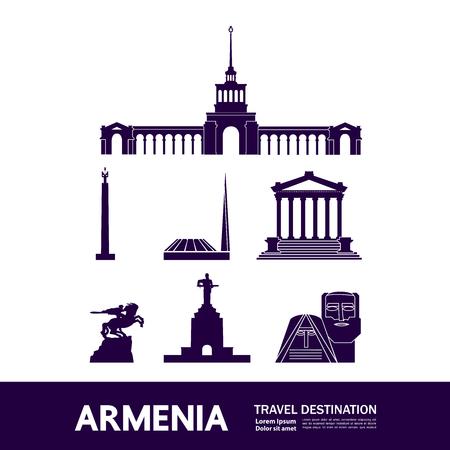 Armenia travel destination vector illustration.