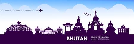 Bhutan travel destination vector illustration.