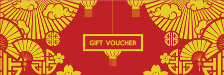 Chinese Gift Voucher vector.