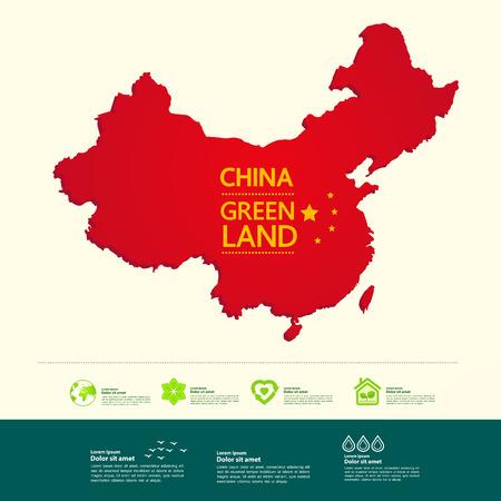 Ilustracja wektorowa cel podróży Chiny.