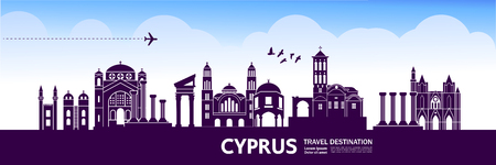 CYPRUS travel destination vector illustration.