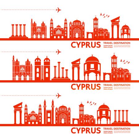CYPRUS travel destination vector illustration. Archivio Fotografico - 119016917