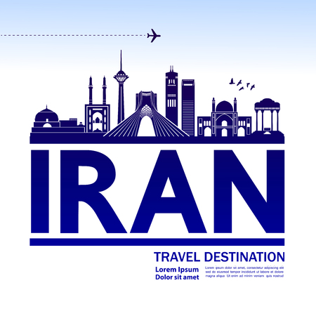 IRAN travel destination vector illustration.