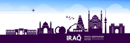 Illustration vectorielle de destination Iraqtravel.