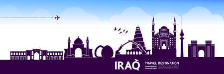 Iraqtravel destination vector illustration.