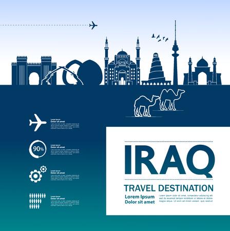 Iraq travel destination vector illustration.