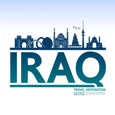 Irak reisbestemming vectorillustratie.