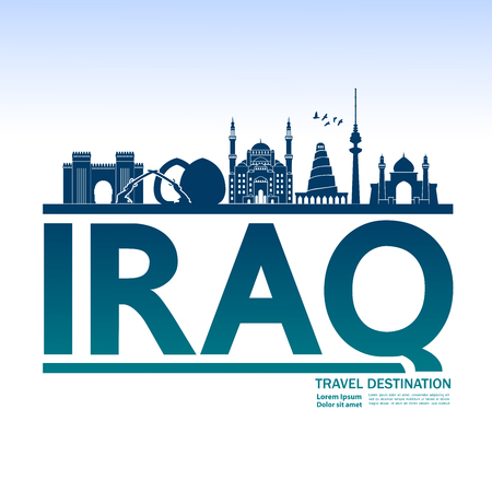 Iraq travel destination vector illustration.