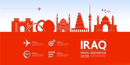 Iraq travel destination vector illustration. Vector Illustratie