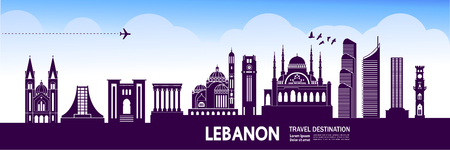 Lebanon travel destination vector illustration.