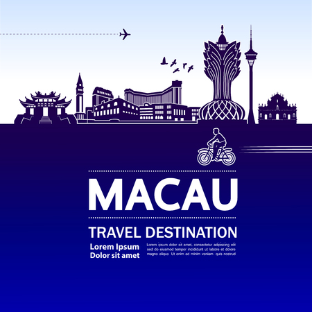 MACAU travel destination vector illustration. Stock Vector - 119017634
