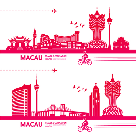 MACAU travel destination vector illustration. Stock Vector - 119017635