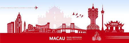 MACAU travel destination vector illustration. Stock Vector - 119017641