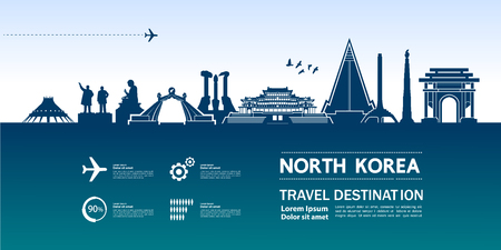 North Korea travel destination vector illustration.