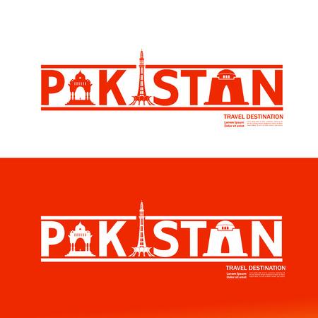 Pakistan travel destination vector illustration. Иллюстрация