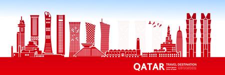 QATAR travel destination vector illustration. Illustration
