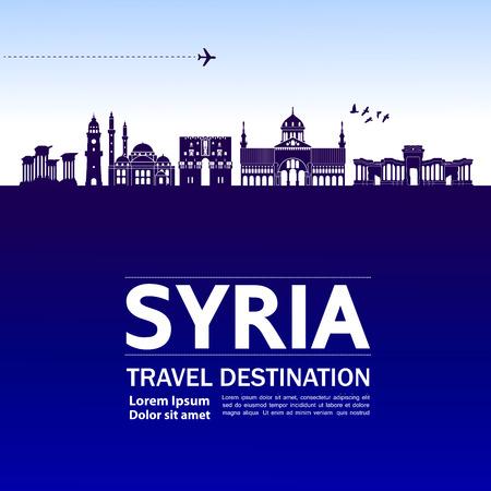 Illustration vectorielle de SYRIE destination de voyage. Vecteurs