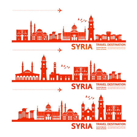 SYRIA travel destination vector illustration. Vecteurs