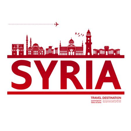 SYRIA travel destination vector illustration.