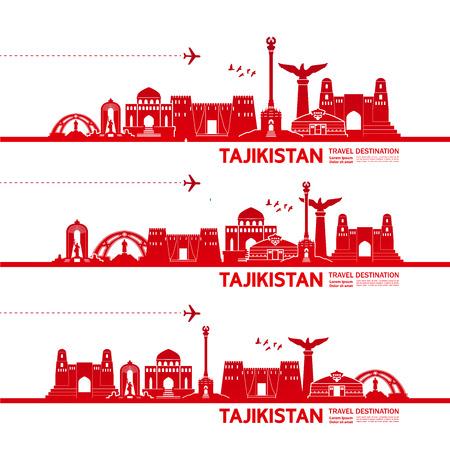 Tajikistan travel destination vector illustration. Illustration