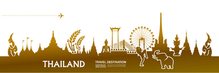 THAILAND travel destination vector illustration.