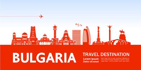 Bulgaria travel destination vector illustration.