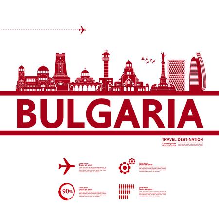 Bulgaria travel destination vector illustration. Vektorové ilustrace