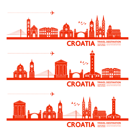 Kroatien Reiseziel-Vektor-Illustration. Vektorgrafik