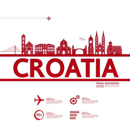 Croatia travel destination vector illustration.