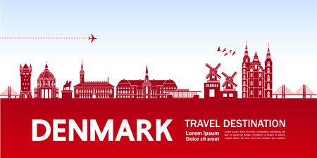DENMARK travel destination vector illustration.