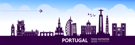 Portugal travel destination vector illustration. Ilustrace