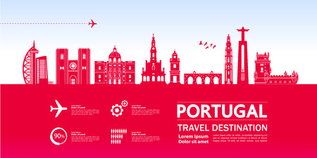 Portugal travel destination vector illustration. Иллюстрация